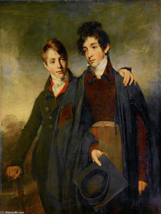 John Soane junior Et George Soane de William Owen (1769-1825, United Kingdom)