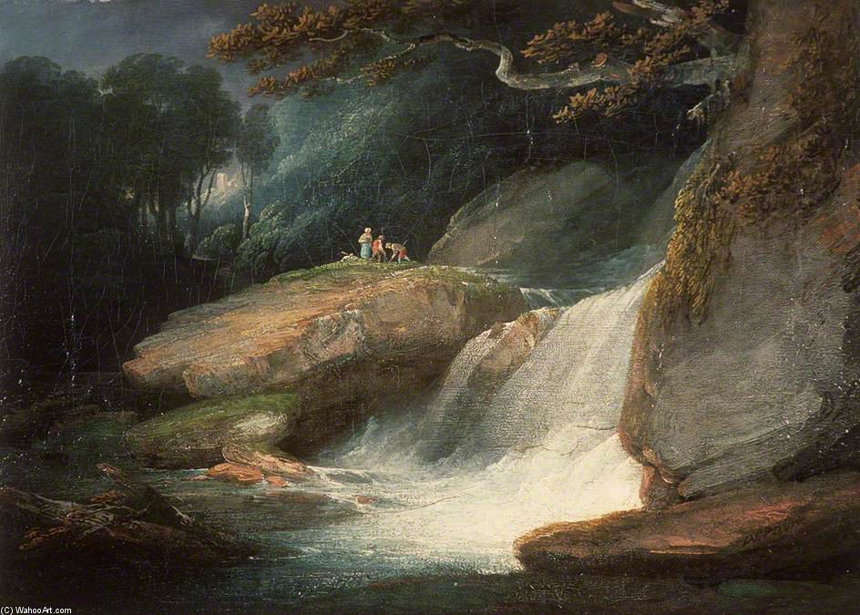 Swallow Falls de William Payne (1760-1830, United Kingdom) | Reproductions D'art De Musée | ArtsDot.com