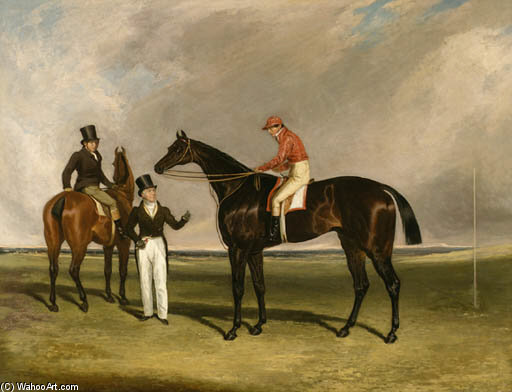 M. Beardsworth Et Birmingham Avec Patrick Connolly Up et son entraîneur Sur Un Hack A Doncaster de Abraham Cooper (1787-1868, United Kingdom)
