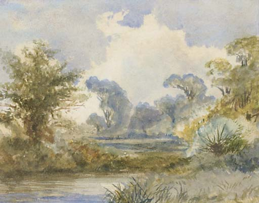 a rivière paysage de Frederick Waters Watts (1800-1870, United Kingdom)