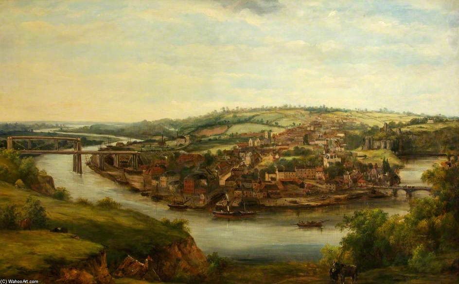 Chepstow de Frederick Waters (William) Watts (1800-1870, United Kingdom)