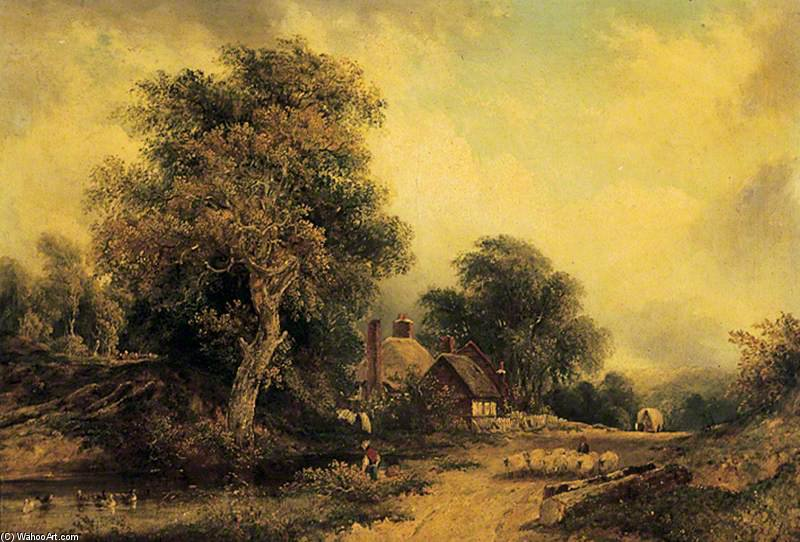 paysage de Frederick Waters Watts (1800-1870, United Kingdom)