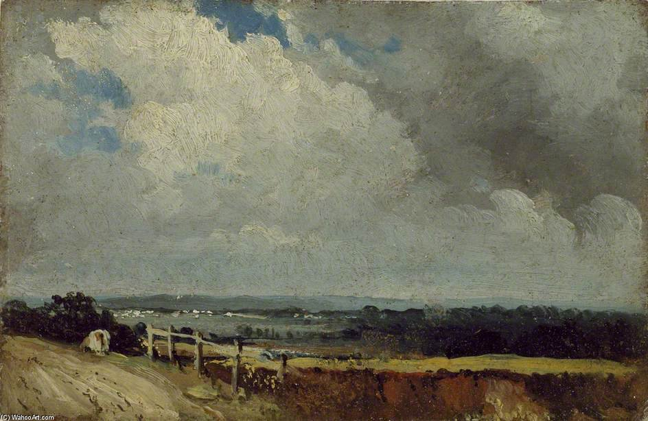 Près de Epsom de Frederick Waters (William) Watts (1800-1870, United Kingdom)