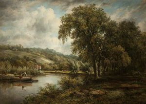 Frederick Waters (William) Watts - Sur la Tamise