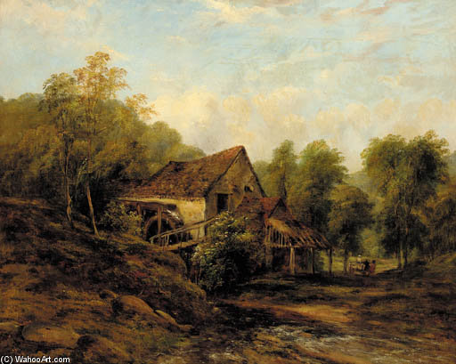 l'ancienne eau mill de Frederick Waters Watts (1800-1870, United Kingdom)