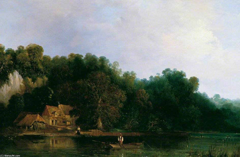 Vue sur la Tamise De Tilehurst de Frederick Waters Watts (1800-1870, United Kingdom)