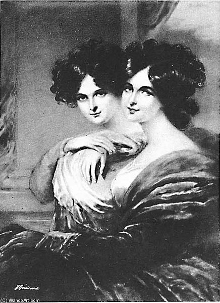 Anna Et Catherine Lopoukhine de George Henry Harlow (1787-1819, United Kingdom)