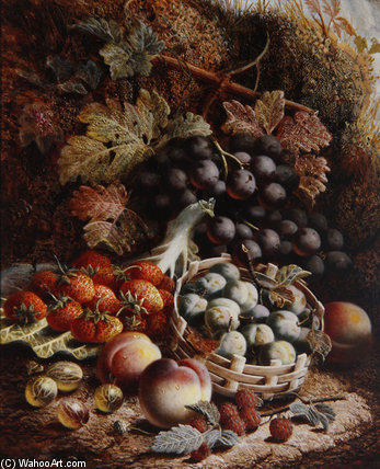 nature morte des fruits Ii de Oliver Clare (1853-1927, United Kingdom)
