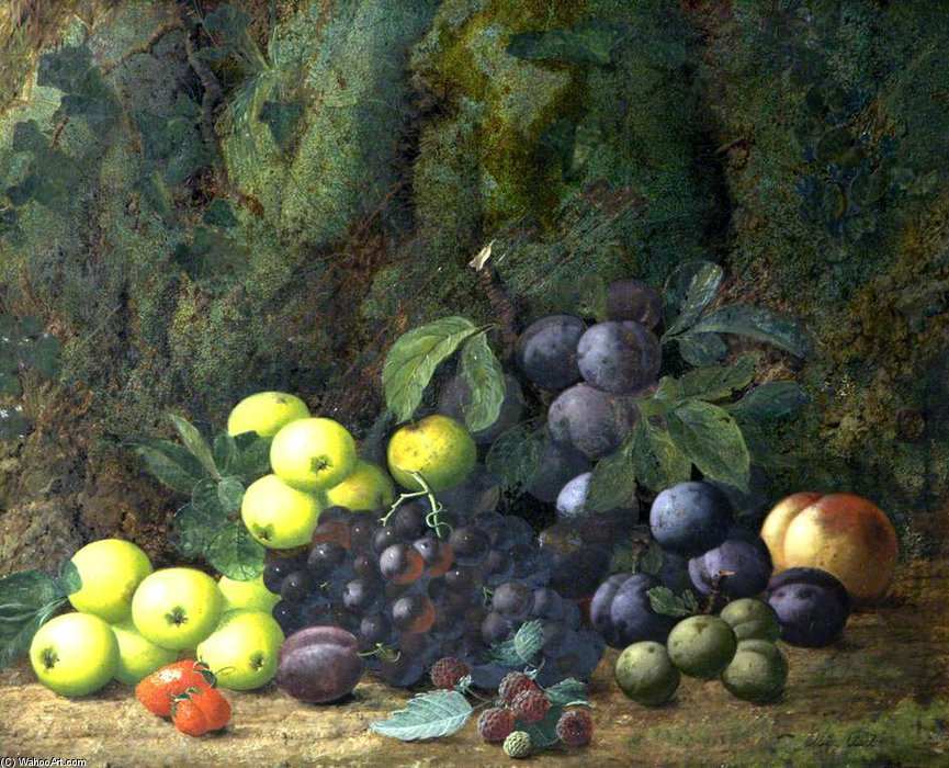 Nature morte avec fruits de Oliver Clare (1853-1927, United Kingdom)