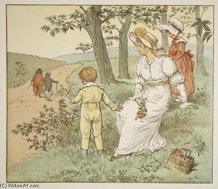 Marcher Pour Hall Mousey de Randolph Caldecott (1846-1886, United Kingdom)