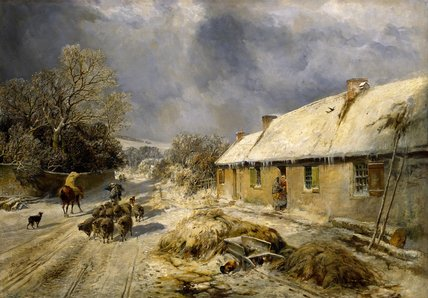 Cottage Burns, Alloway de Samuel Bough (1822-1878, United Kingdom)