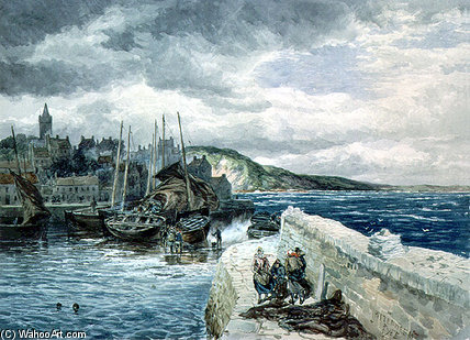 Pittenweem, Fife de Samuel Bough (1822-1878, United Kingdom)