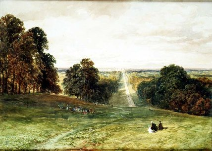 The Long Walk, Windsor de Samuel Bough (1822-1878, United Kingdom)