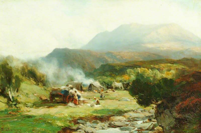 Gypsy Campement, Ben Eay de David Farquharson (1839-1907, United Kingdom) | Reproductions D'art De Musée | ArtsDot.com