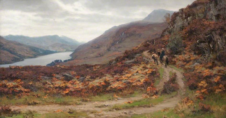 Queen`s Vue , Fiord Tummel de David Farquharson (1839-1907, United Kingdom) | Reproductions D'art Sur Toile | ArtsDot.com
