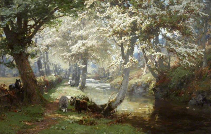 Printemps dans les Trossachs de David Farquharson (1839-1907, United Kingdom)