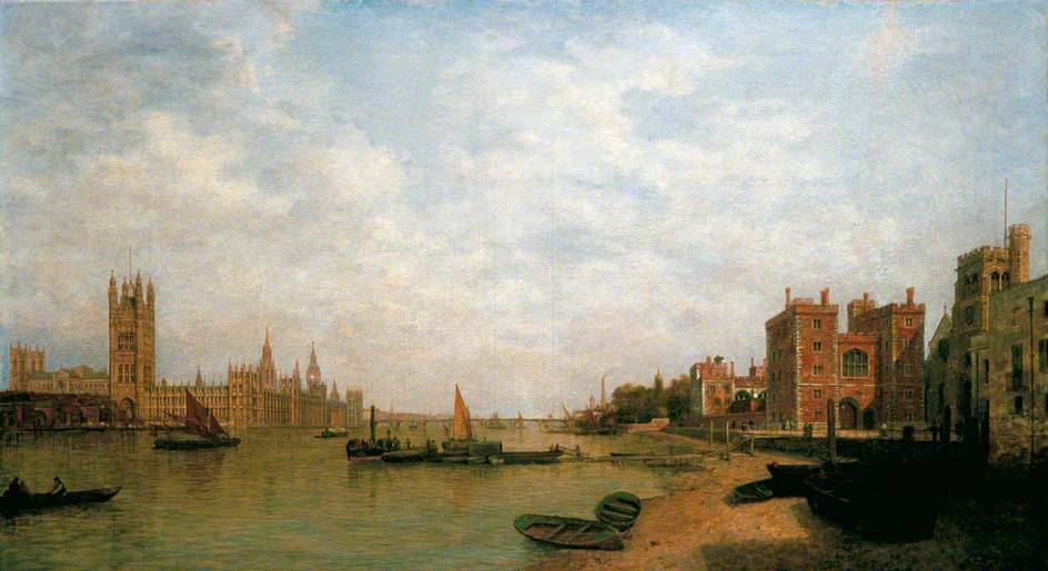 De Westminster Lambeth de Henry Pether (1828-1865, United Kingdom)