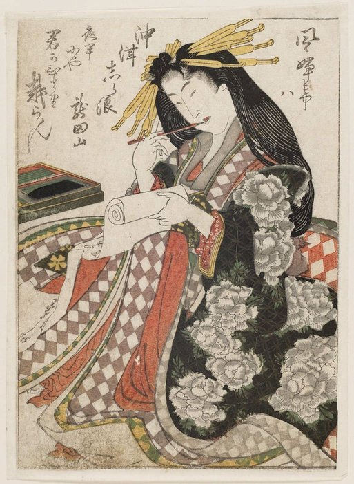 Rédaction Courtisane de Katsushika Hokusai (1760-1849, Japan)