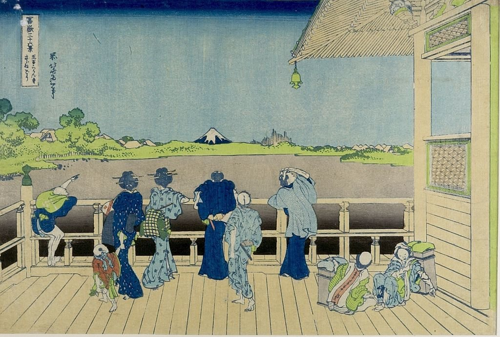 Sazai Hall Of The Five-cent-rakan Temple Dans Edo de Katsushika Hokusai (1760-1849, Japan) | Reproductions D'art Sur Toile | ArtsDot.com