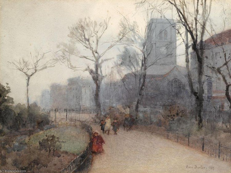 Chelsea Old Church de Rose Maynard Barton (1856-1930, Ireland)