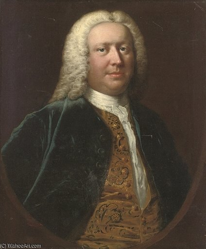 Portrait Of Henry Crispe de Catton de Thomas Frye (1710-1762, Ireland)