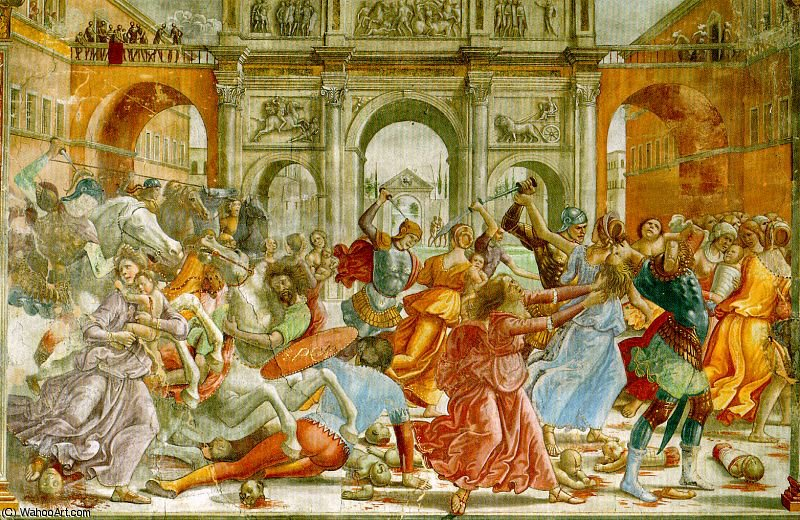 massacre des innocents de Domenico Ghirlandaio (1449-1494, Italy)