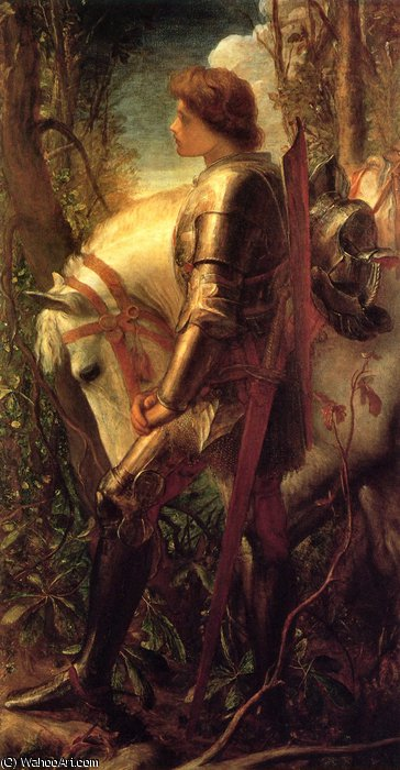 Sir Galahad de Frederick Waters (William) Watts (1800-1870, United Kingdom)