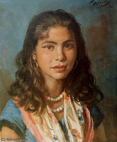loli La Gitana de Jorge Apperley (George Owen Wynne Apperley) (1884-1960, United Kingdom) | Reproductions D'art De Musée | ArtsDot.com