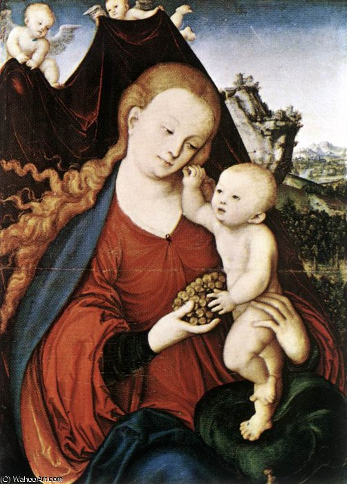 madonna et lenfant de Lucas Cranach The Elder (1472-1553, Germany)