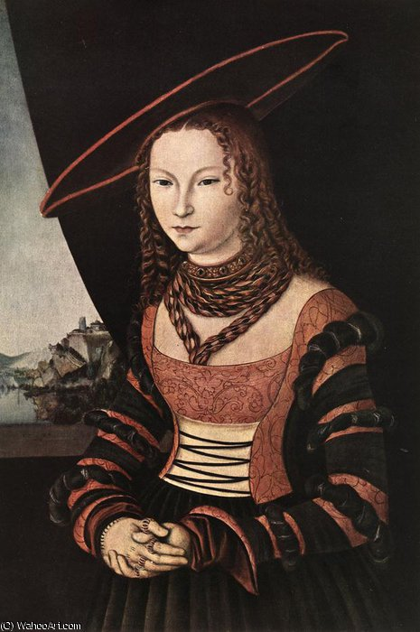portrait d une femme de Lucas Cranach The Elder (1472-1553, Germany) | ArtsDot.com