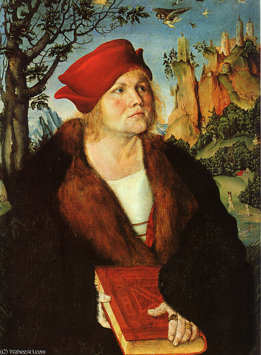 Portrait de Johannes Cuspinian, 1503 de Lucas Cranach The Elder (1472-1553, Germany)