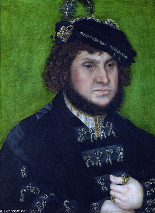 Portrait de Johann le Steadfast de Lucas Cranach The Elder (1472-1553, Germany)