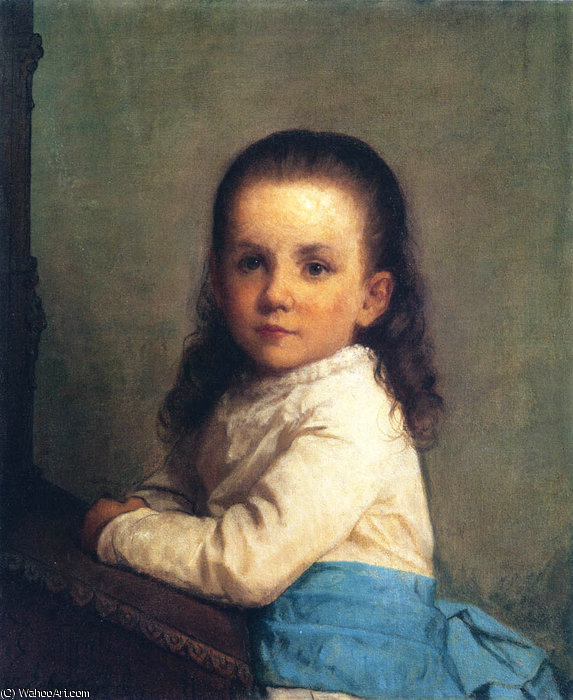 Portrait Vinnie de Jonathan Eastman Johnson (1824-1906, United Kingdom) | Reproduction Peinture | ArtsDot.com