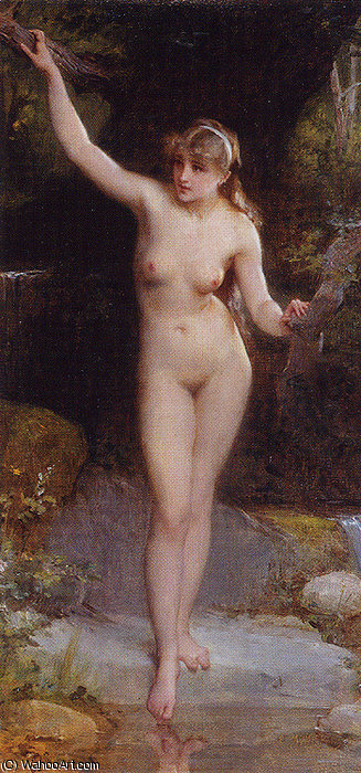 Nd 8 la baigneuse de Emile Munier (1840-1895, France)