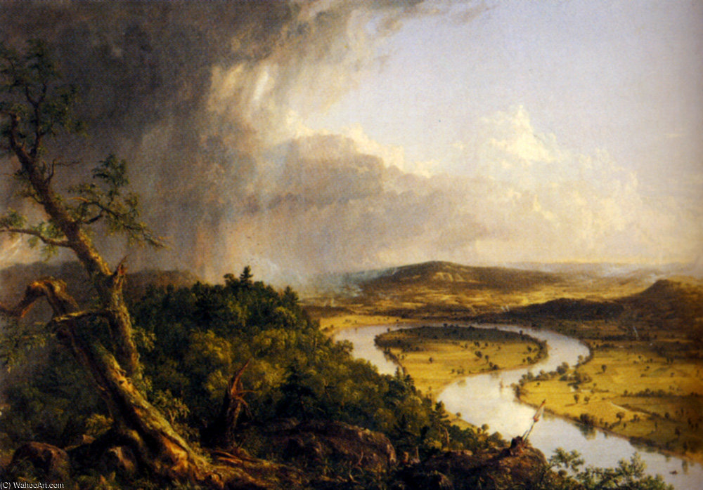 vue de mount holyoke northampton massachusetts de Thomas Cole (1801-1848, United Kingdom)