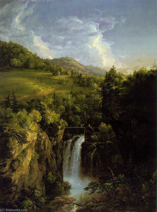 Genesee Paysage ATC de Thomas Cole (1801-1848, United Kingdom)