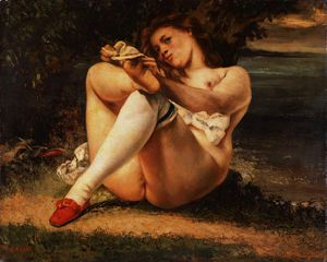 Gustave Courbet - femme blanc  bas  califor..