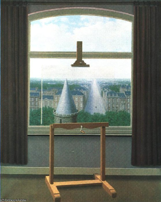 Euclidienne marche, 1955, Minneapolis inst.of arts de Rene Magritte (1898-1967, Belgium)
