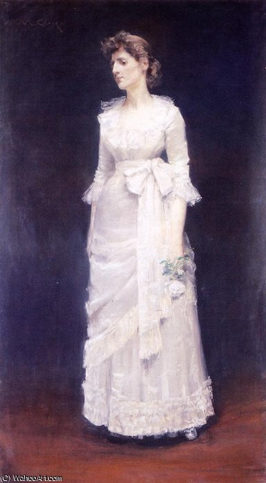 La Rose Blanche de William Merritt Chase (1849-1916, United States)