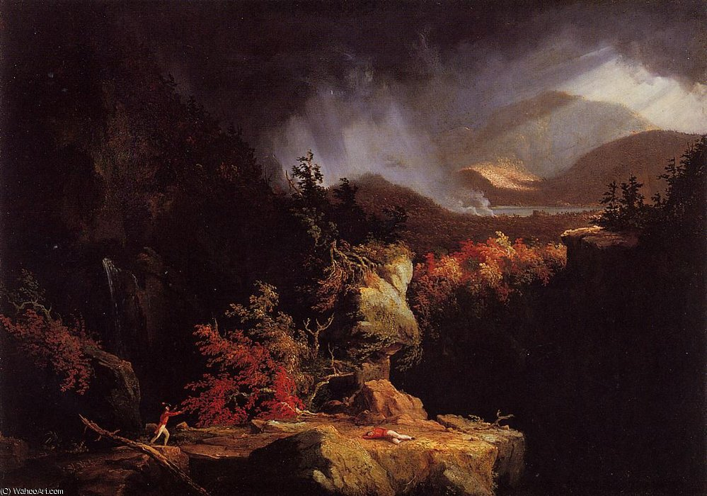 Vue près de Ticonderoga de Thomas Cole (1801-1848, United Kingdom)