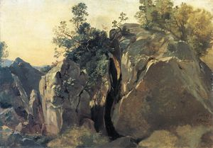 Friedrich Nerly - Cliffs at Olevano