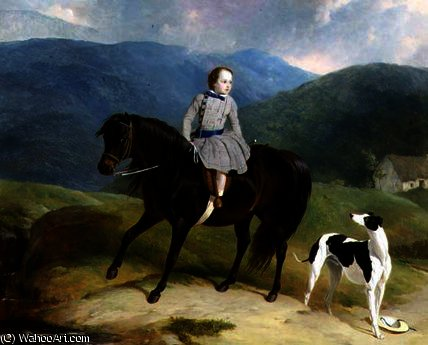 Maître Edward Coutts Marjoriebanks sur son poney de Abraham Cooper (1787-1868, United Kingdom)