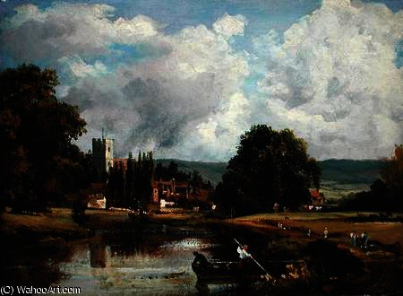 La Tamise à Mortlake de Frederick Waters Watts (1800-1870, United Kingdom)