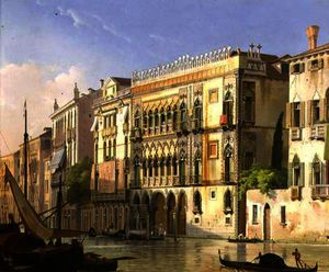 Friedrich Nerly - Le Ca- d-Oro , Venise