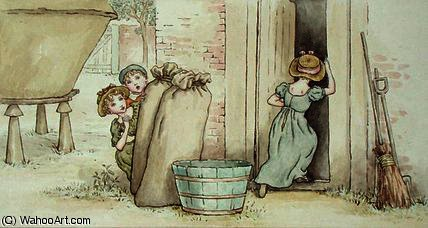 Cache-cache de Kate Greenaway (1846-1901, United Kingdom) | Reproductions D'art De Musée | ArtsDot.com