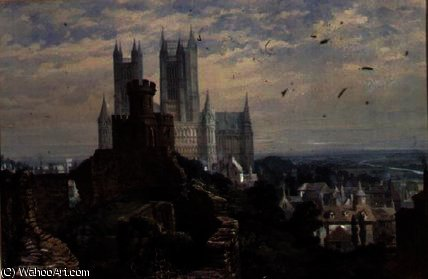 Lincoln Cathédrale de l Austral de Louise Rayner (1832-1924, United Kingdom)