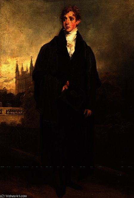 portrait d henri Townley debout Robe académique , Merton Université , Oxford, éventuellement en, 1769 de William Owen (1769-1825, United Kingdom)