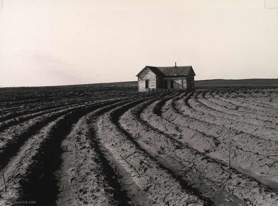 Tractored sur, le comté de Childress, Texas de Dorothea Lange (1895-1965, United States) | Reproductions D'art Sur Toile | ArtsDot.com