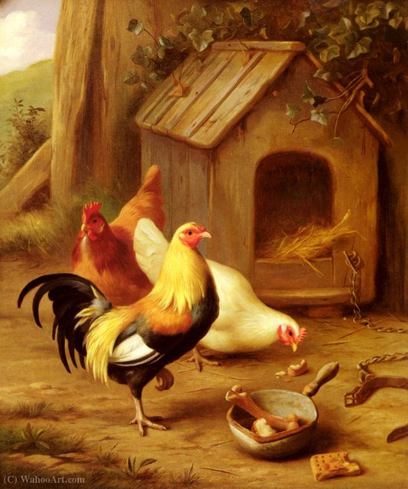 Poulets d alimentation de Edgar Hunt