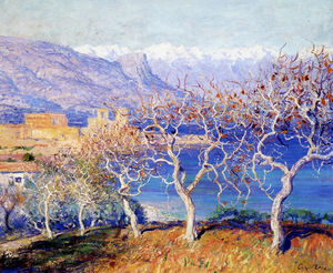 Guy Rose - Figuiers , antibes , ( 1910 )